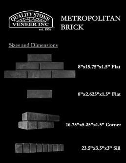 1 -METROPOLITAN BRICK -  All Panel Sizes and Dimensions 9.2.20