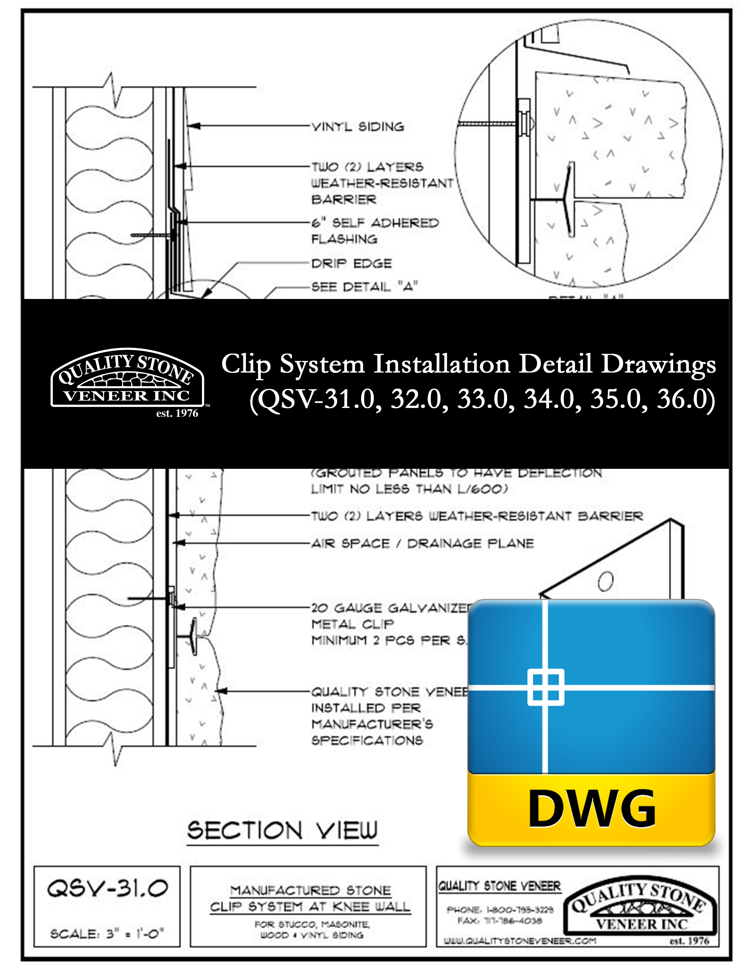 DWG File - CLIP Installation Drawings 31 - 36