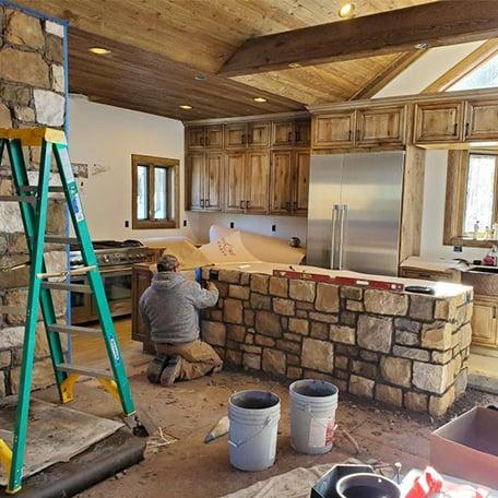 Ouray Cobblestone Install