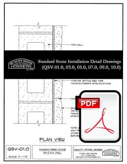 Standard Stone Detail Drawings Package PDF